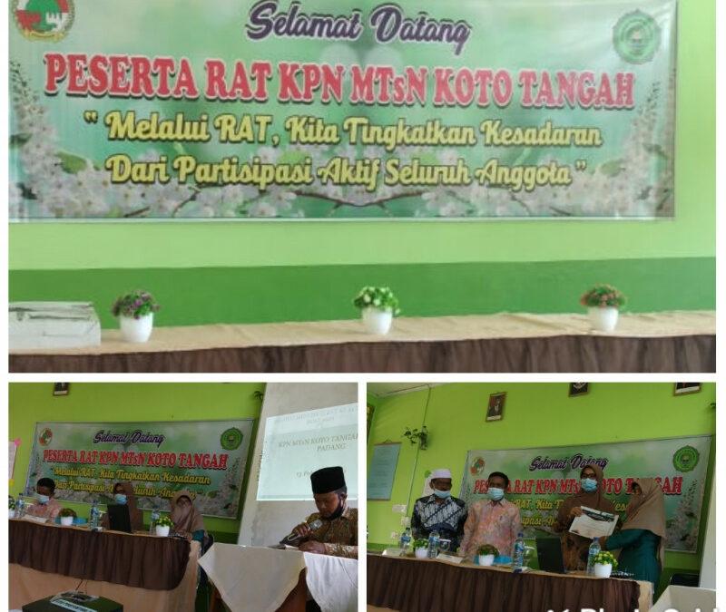 Rapat Anggota Tahunan Koperasi MTsN Koto Tangah Padang